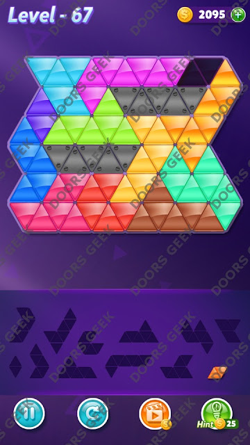 Block! Triangle Puzzle Grandmaster Level 67 Solution, Cheats, Walkthrough for Android, iPhone, iPad and iPod