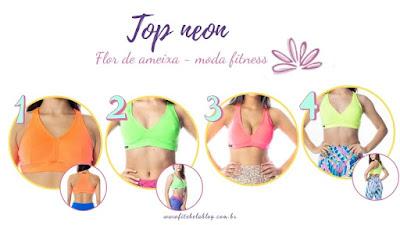 Tops neon - Flor de Ameixa moda fitness
