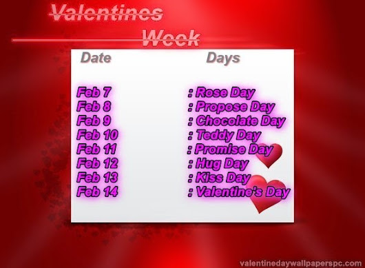 Valentine Day Date 2019 List