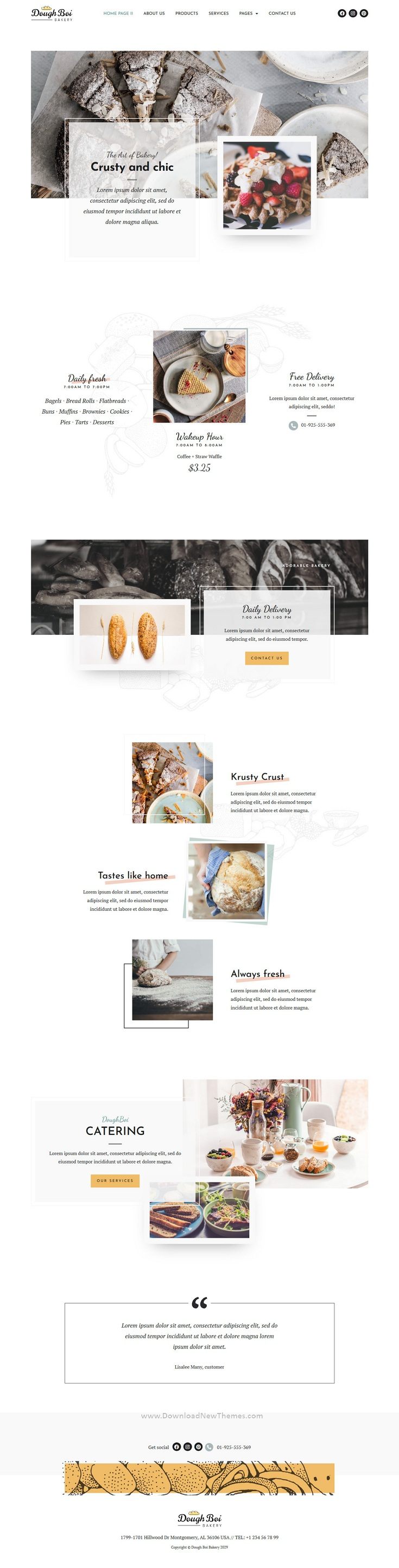 Bakery Cakery Elementor Template Kit