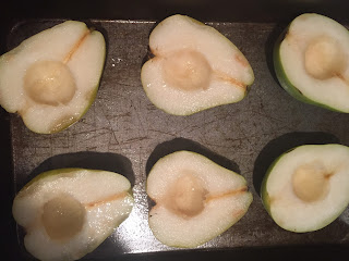 Inside a pear