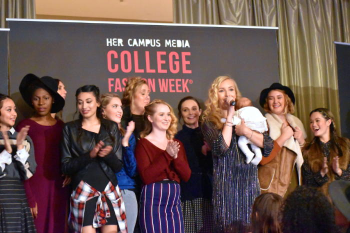 her campus bloggers fashion show