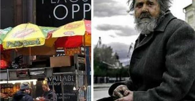 Мужчина всегда давал бездомному мелочь, что завалялась в кармане. Однажды он видит его в ресторане, в костюме