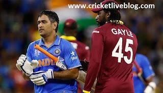 wi vs india live t20 cricket score 2016