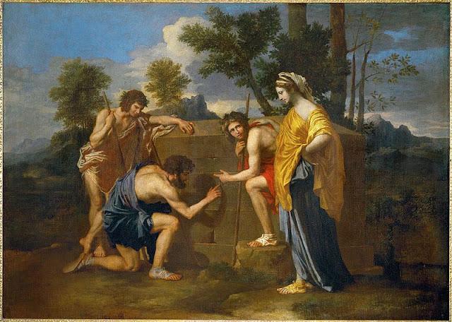 """Et in Arcadia ego"" (Les Bergerer d' Arcadie) Version II  Nicholas Poussin"