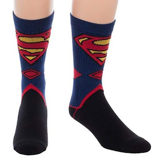 Bioworld Superman Suit Up Crew Socks