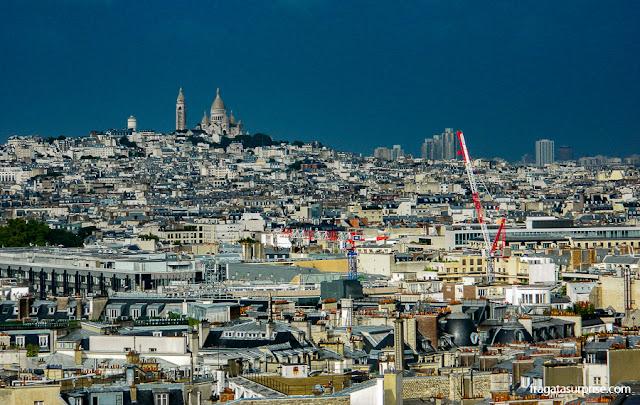 Paris do alto - a Basílica de Sacre Coeur vista do Arco do Triunfo