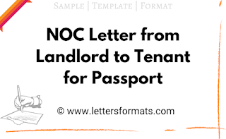 noc letter from house owner to tenant for passport