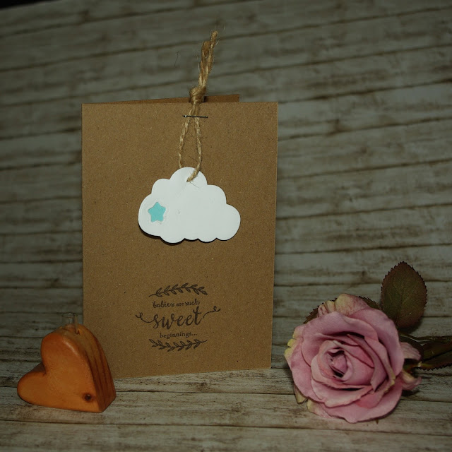 [DIY] Babies are such sweet beginnings: Cloud Birth Card // wolkige Karte zur Geburt Part 1