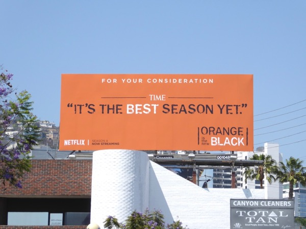 Orange is New Black season 4 Emmy fyc billboard