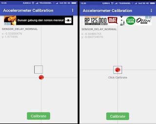 Kalibrasi Sensor Accelerometer Android