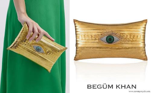 Queen Maxima carries Begum Khan Evil Eye Cushion Large