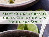 Slow Cooker Creamy Green Chile Chicken Enchilada Soup Recipe