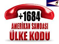 +1 684 Amerikan Samoası ülke telefon kodu