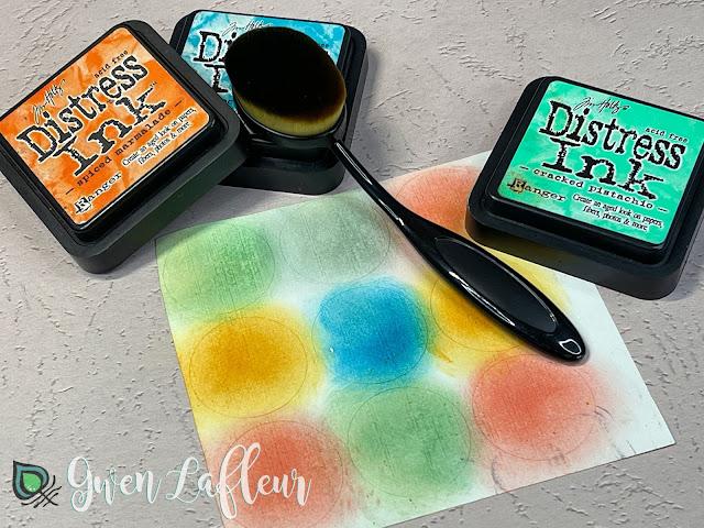 DIY Stamped Stickers Tutorial Step 1 - Gwen Lafleur