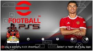 Download eFootball PES 2022 PPSSPP HD Graphics New Menu Update & Transfer Season 2021/22