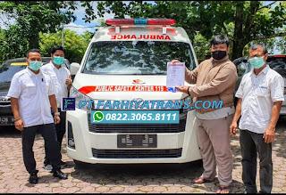 Pengiriman Mobil Ambulance Toyota HiAce dari Karoseri Tangerang tujuan ke Dinas Kesehatan Nagan Raya Banda Aceh dengan Kapal Roro dan driving, estimasi perjalanan 4 hari.