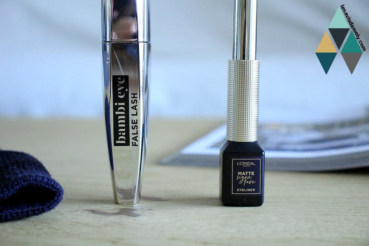 avis et test mascara et bambi eye et liner matte signature l'oréal