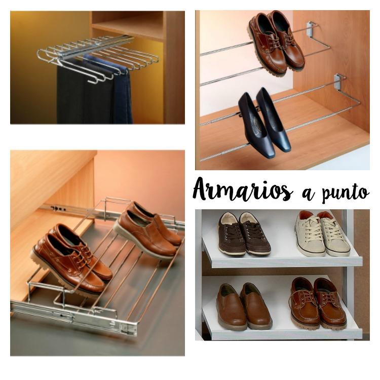 pantaloneros y zapateros para armarios