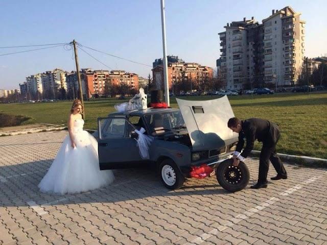 Bild des Tages - Hochzeitslimusine in Skopje