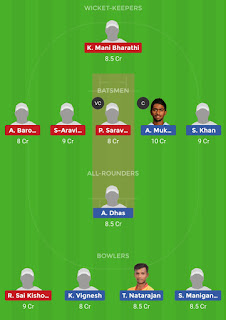 Dream11 team for LYC vs RUB 11th Match | Fantasy cricket tips | Playing 11 | TNPL Dream11 Team