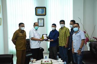 Terima Audiensi PWI Tebingtinggi,  Walikota Harapkan Media Berperan Aktif Upaya Memutus Matarantai Covid-19