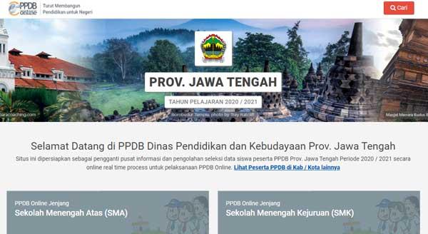 cara daftar ppdb jateng secara online tahun 2020-2021