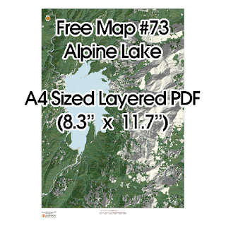 Free Map #73: A Large Mountain Lake