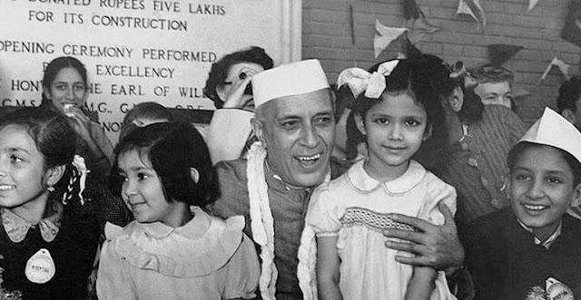 Chacha Nehru with Kids