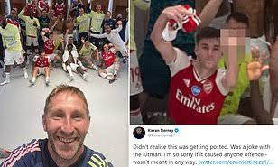 Arsenal left back Tierney apologises for middle-finger gesture after Man City win