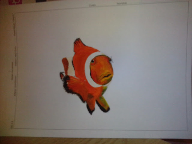 Painting of Clownsfish Nemo ongoing by Ellis Derkx