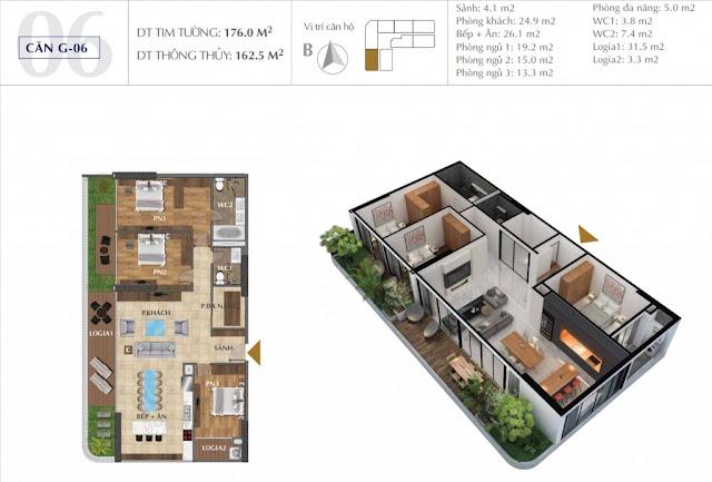 Thiết kế căn hộ Sunshine Golden River