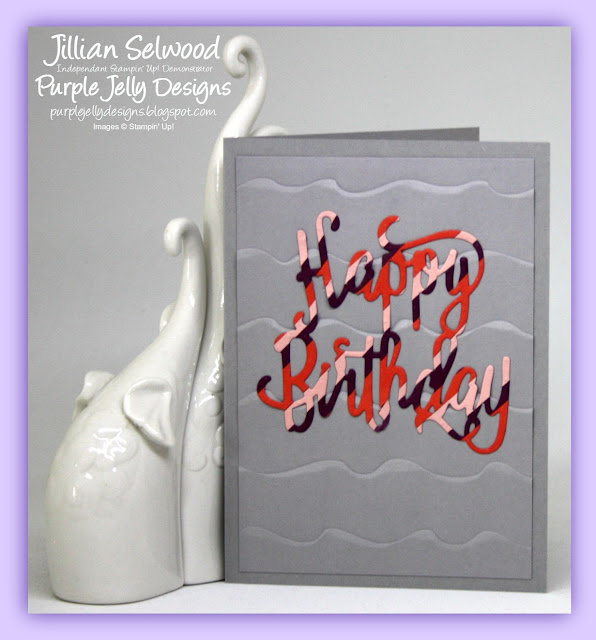 Ruffled Dynamic Textured Impressions Embossing Folder, Happy Birthday Thinlets Die