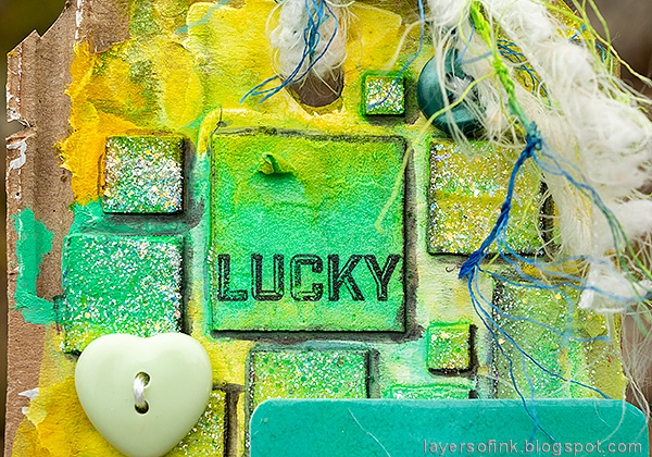 Layers of ink - Mixed Media Squares Background Tutorial by Anna-Karin Evaldsson.