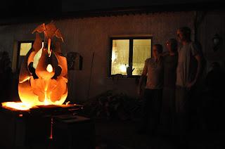 scultura infuocata ceramiche Stylnove