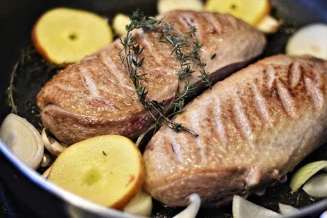 هل لحم البط خالي من الدهون؟
