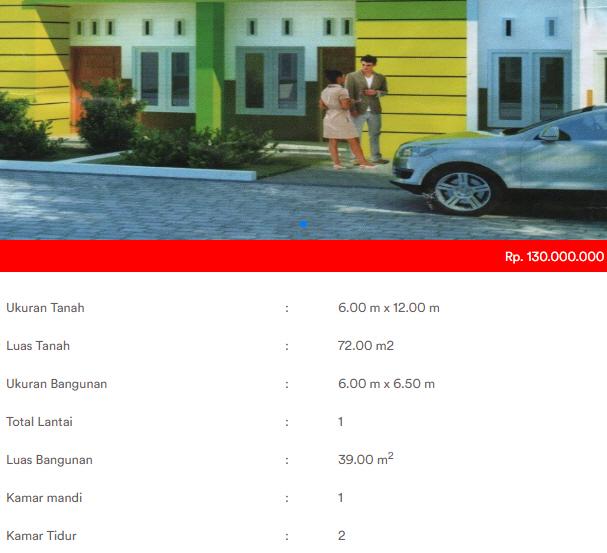 Spesifikasi rumah subsidi KPR Pemerintah di Tanjung Morawa Medan: