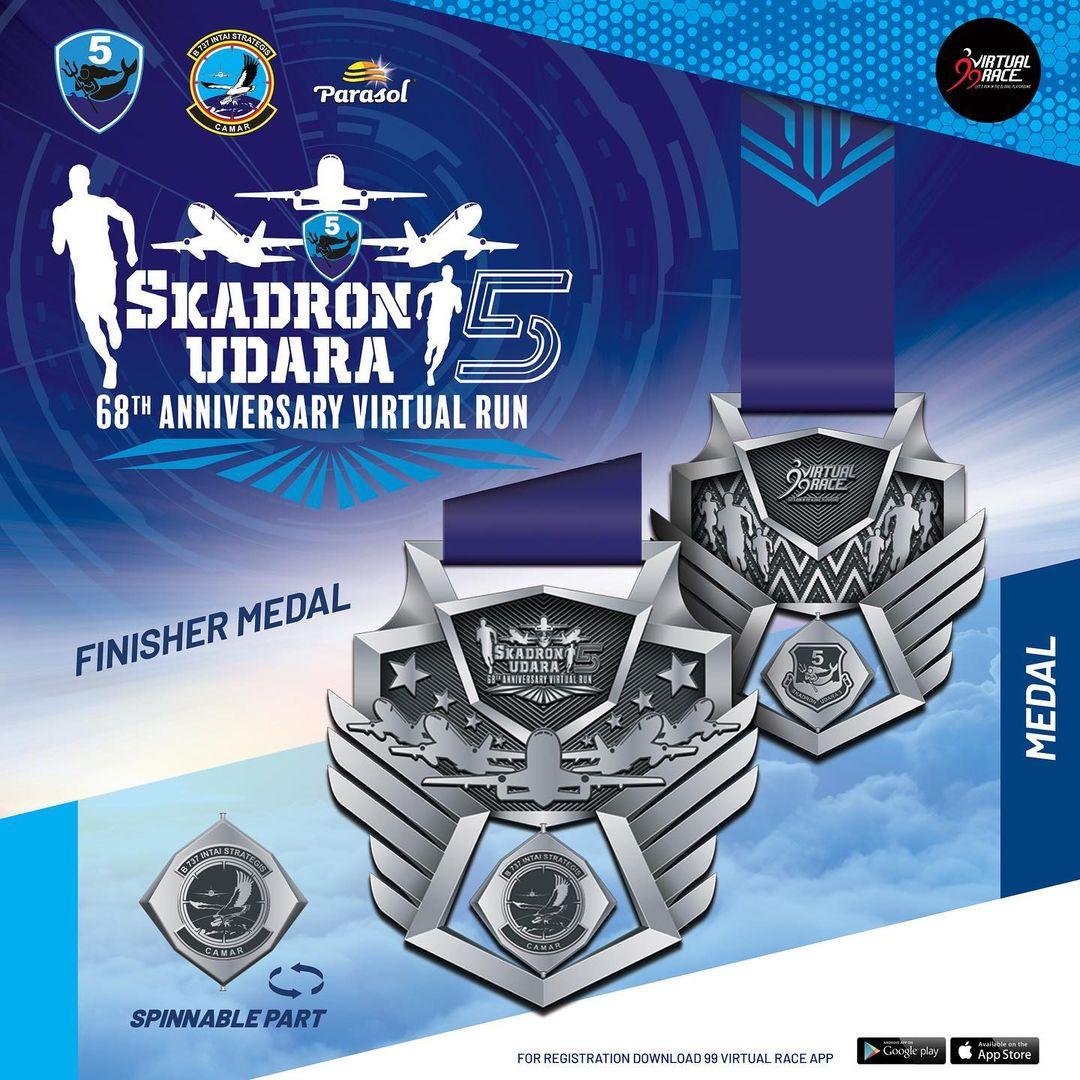 Medal � Skadron Udara 5 Virtual Run • 2021