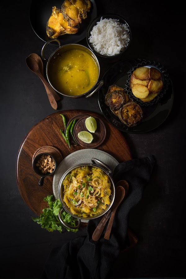Kumror bhorta, mashed pumpkin recipe, food photography, food styling