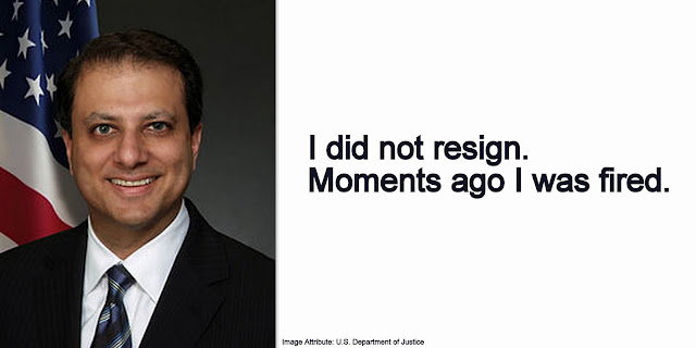 NEWS | Manhattan Attorney Preet Bharara Says He Was Fired After Refusing to Quit