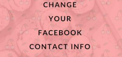 Change Facebook Contact Information