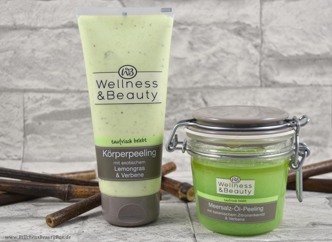 Wellness & Beauty 'taufrisch belebt' Lemongras & Verbene - Körperpeeling & Meersalz-Öl-Peeling