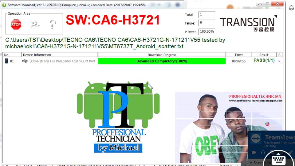 TECNO CAMON CM (CA6) FACTORY SIGNED FIRMWARE FLASH FILE