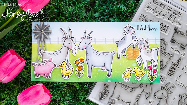 Hay There - Way to Goat Farm Scene - Day 4 Sneak Peek Honey Bee Stamps 5th Anniversary Release