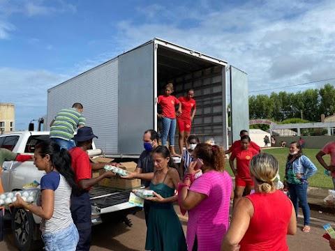 Vara do Trabalho e Prefeitura de Trizidela do Vale entregam 12 toneladas de alimentos para famílias desabrigadas no município