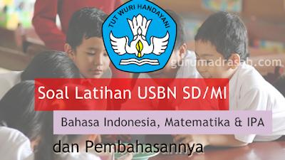 Soal Latihan USBN SD/MI 2018 Bahasa Indonesia, Matematika dan IPA dengan Pembahasan