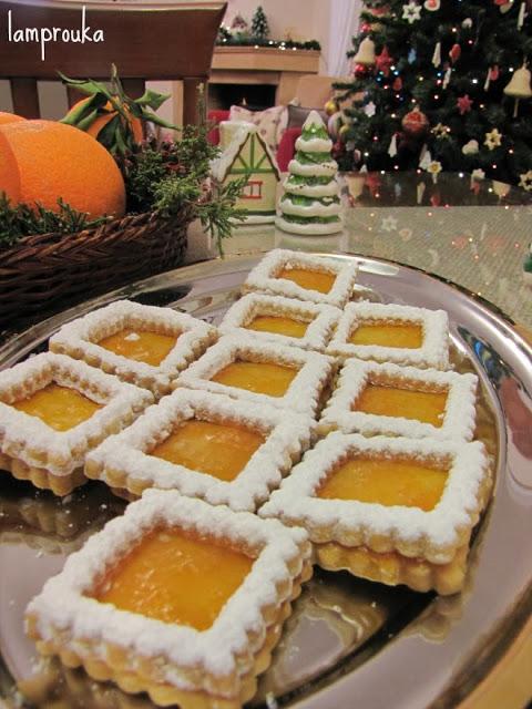 Χριστουγεννιάτικα μπισκότα μερμελάδα βερίκοκο.