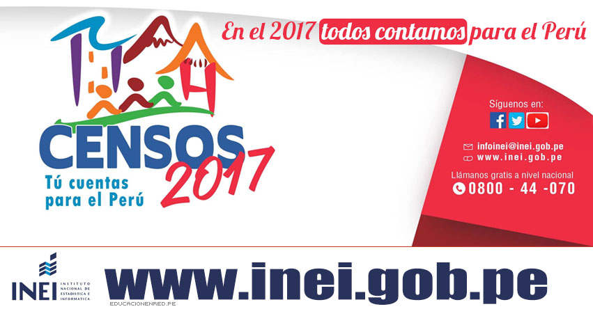 INEI realizará censos de población y vivienda en setiembre de este año - www.inei.gob.pe