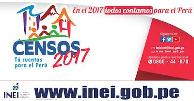 Resultado de imagen para censo 2017 inei