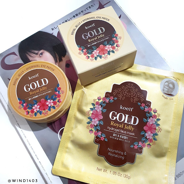 Review Koelf Petitfee Gold Royal Jelly Hydro Gel Eye Patch and Face Mask